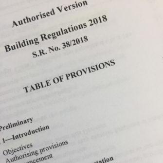 New Building Regulations 2018 – Victoria